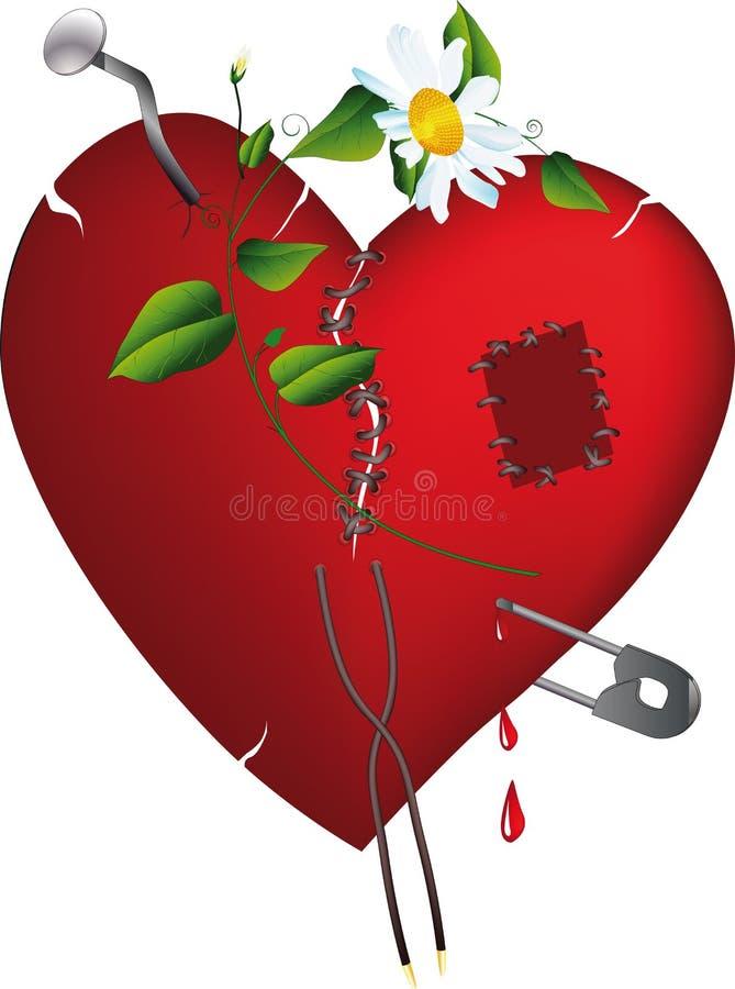 Unterbrochenes Inneres und Liebe lizenzfreie abbildung