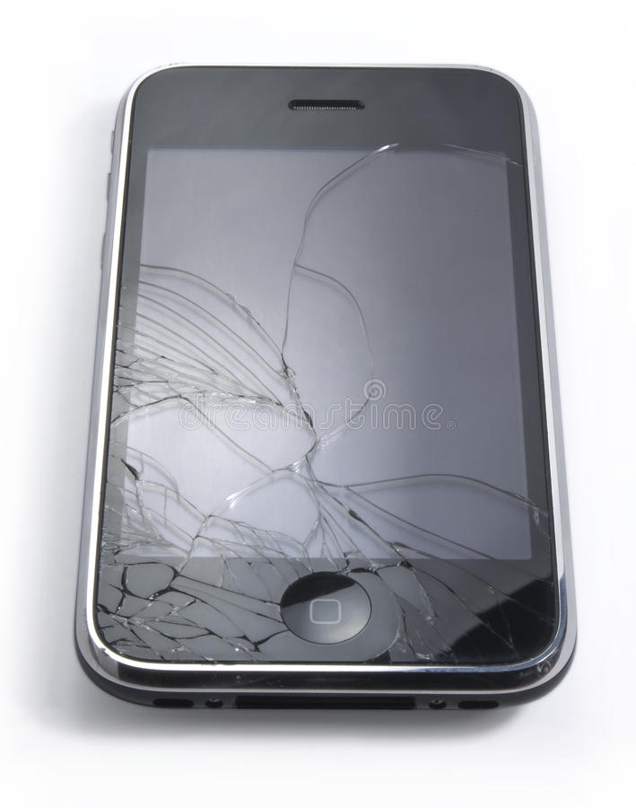 Unterbrochenes iPhone stockbilder