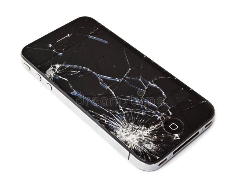 Unterbrochenes iPhone stockfoto