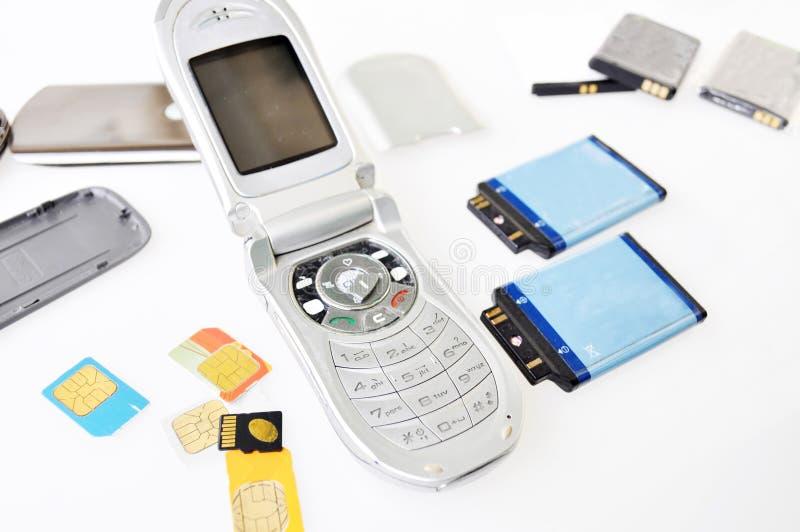 Unterbrochenes Mobiltelefon lizenzfreie stockfotografie