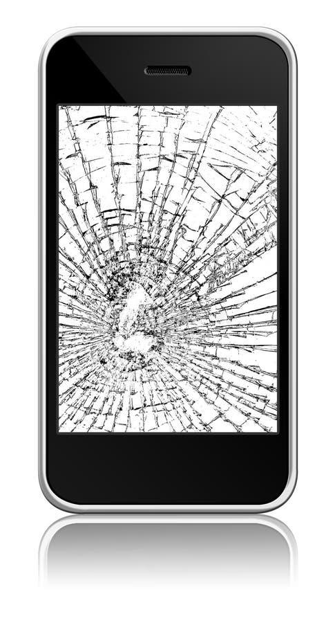 Unterbrochenes neues Mobile lizenzfreie stockfotos