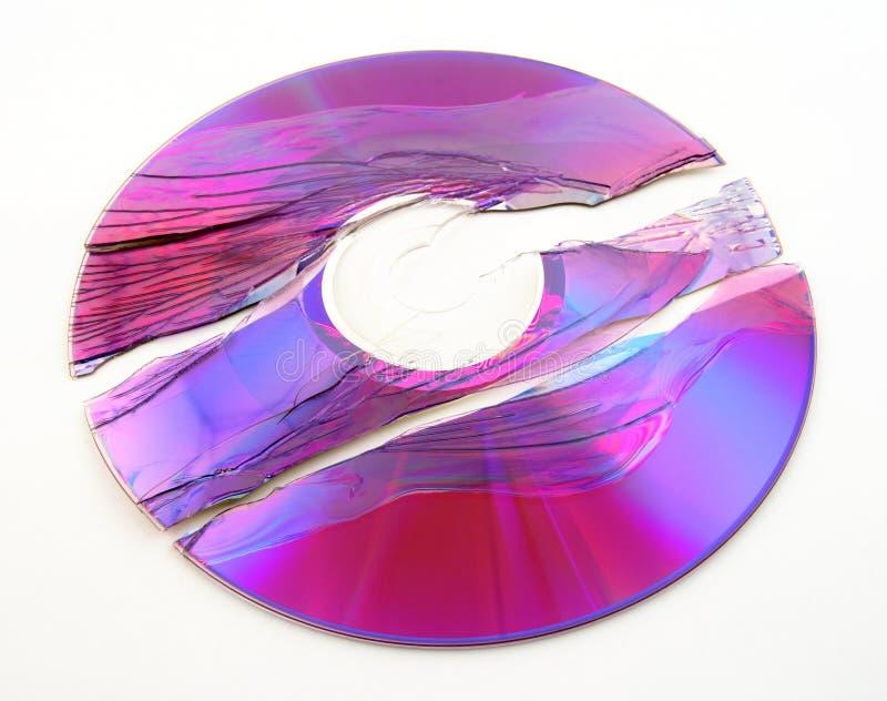 Unterbrochenes Purpur DVD lizenzfreies stockbild
