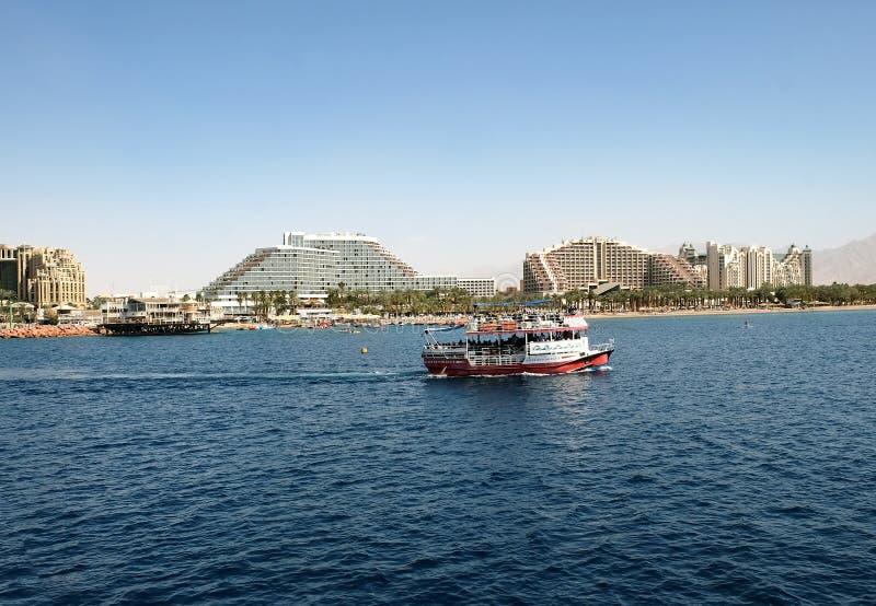 Unterer GlasVergnügungsdampfer im Roten Meer lizenzfreie stockbilder
