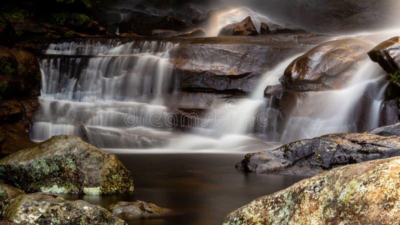 Unterer Teil von Macumba-Wasserfall stockbild