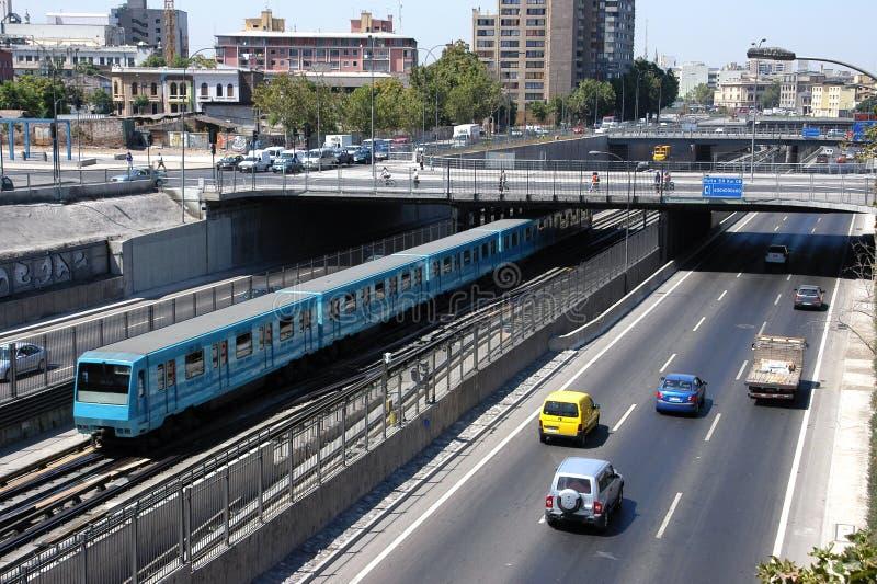 Untergrundbahn Santiago Chile stockbilder