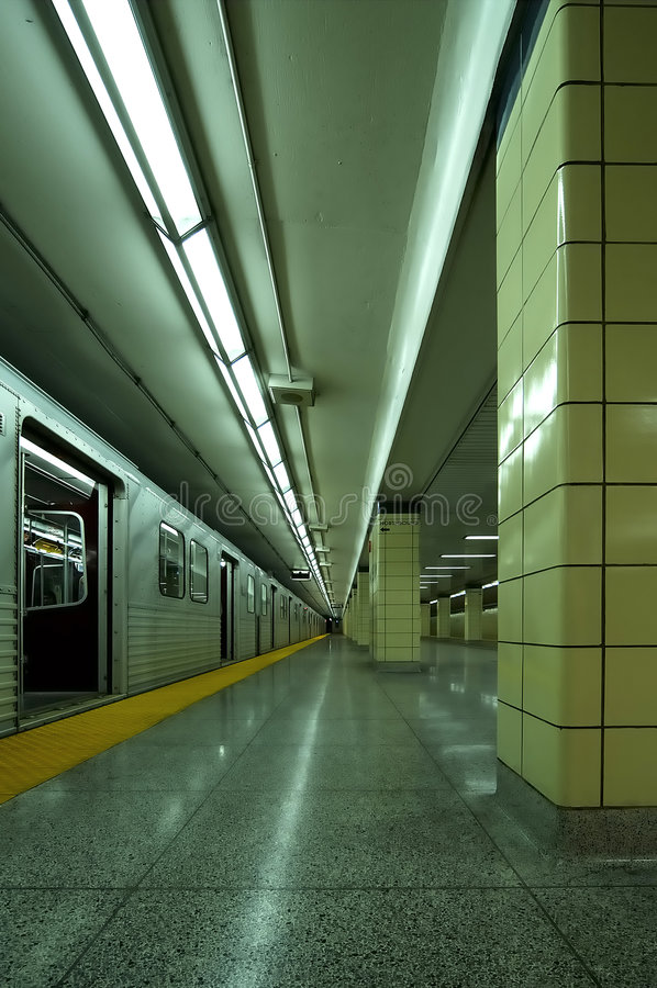 Untergrundbahn Vert Anschlag stockfotos
