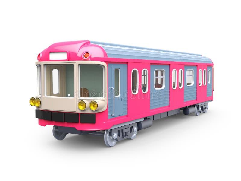 Untergrundbahnrosa vektor abbildung