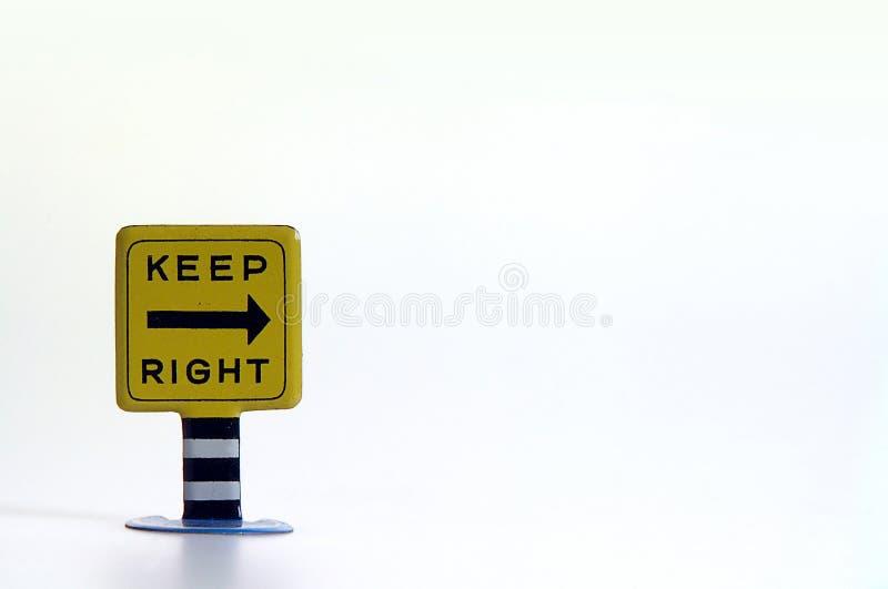 Unterhalt-rechtes Zeichen lizenzfreie stockfotografie