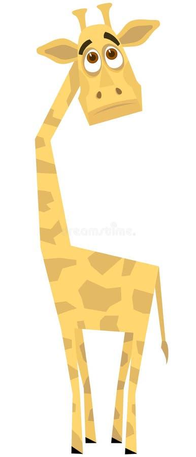 Unterhalten einer Giraffe vektor abbildung