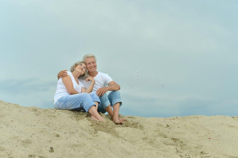 Unterhaltende ältere Paare lizenzfreie stockfotografie