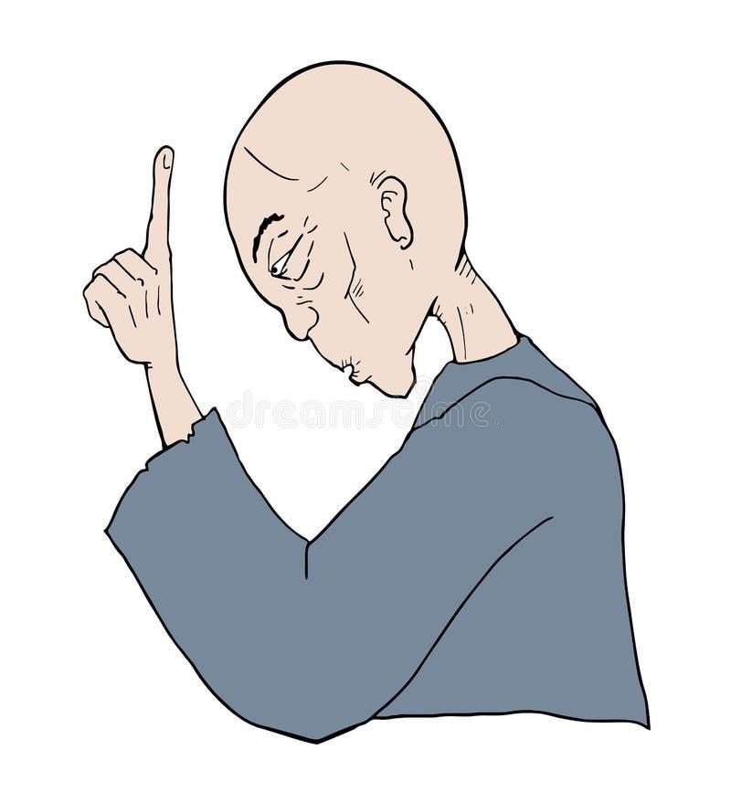 Unterhaltung des klugen Mannes vektor abbildung