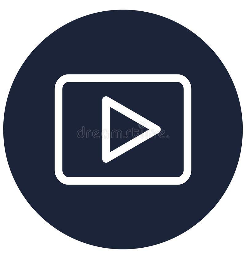 Unterhaltung lokalisierte Vektor-Ikone, die leicht ?ndern oder redigieren kann stock abbildung