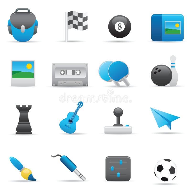 Unterhaltungs-Ikonen | Indigo-Serie 02 lizenzfreie abbildung