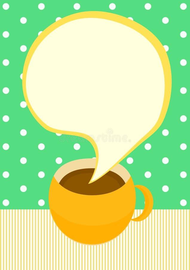 Unterhaltungskaffeetasse-Einladungskarte lizenzfreie abbildung