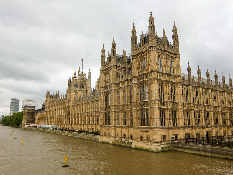 Unterhaus in London England stockbild