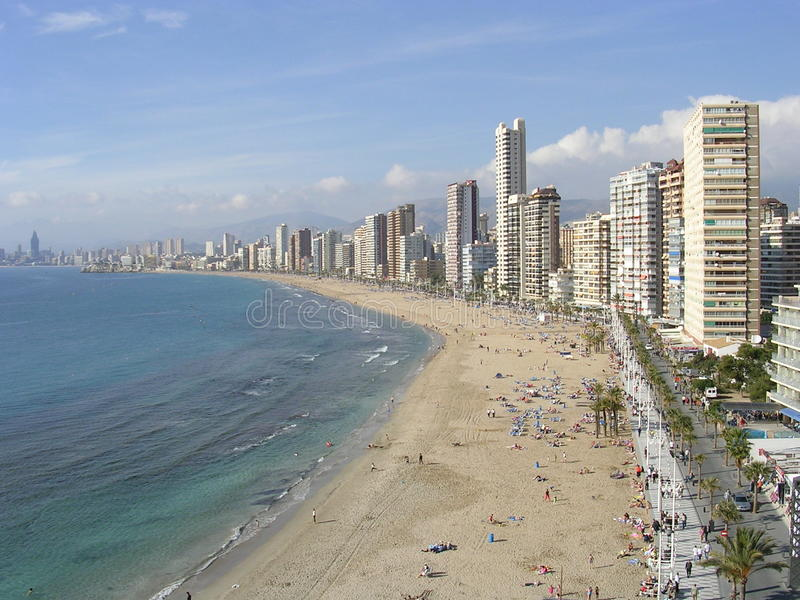 Unterlassung des Strandes in Barcelona, Spanien lizenzfreie stockfotografie
