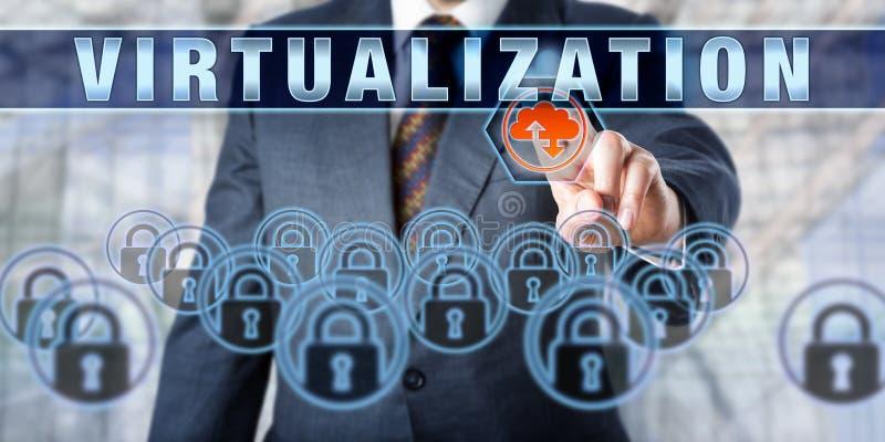 Unternehmens-Kunde rührende VIRTUALISIERUNG lizenzfreie stockfotos