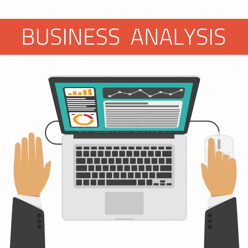 Unternehmensanalyseillustration vektor abbildung