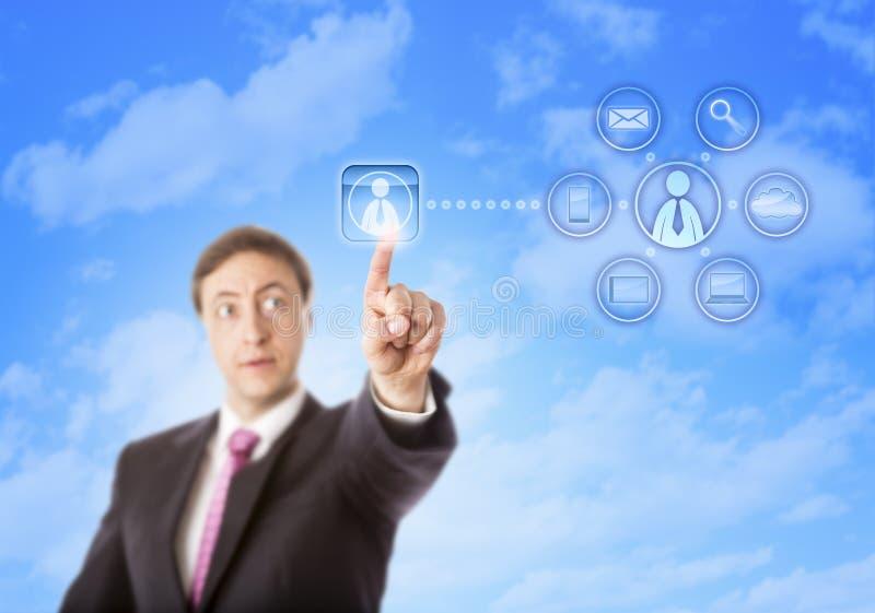 Unternehmensberater Contacting ein Auftragnehmer stockfotos