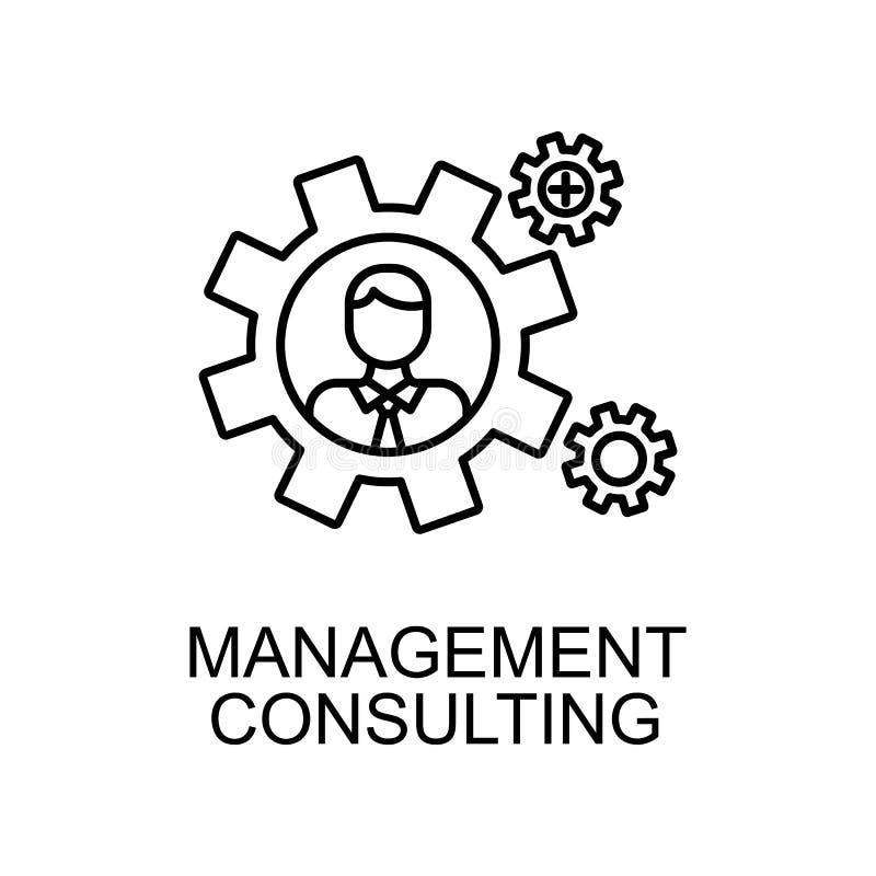 Unternehmensberatungslinie Ikone Element der Personalwesenikone für bewegliche Konzept und Netz apps Dünnes Linienmanagementberat lizenzfreie abbildung