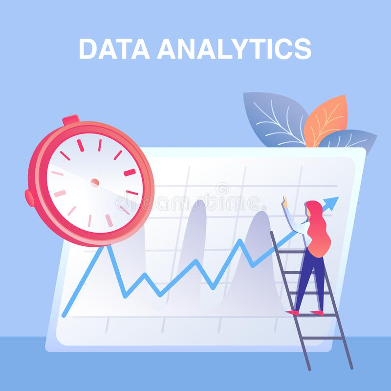 Unternehmensdaten Analytics-flache Vektor-Illustration stock abbildung