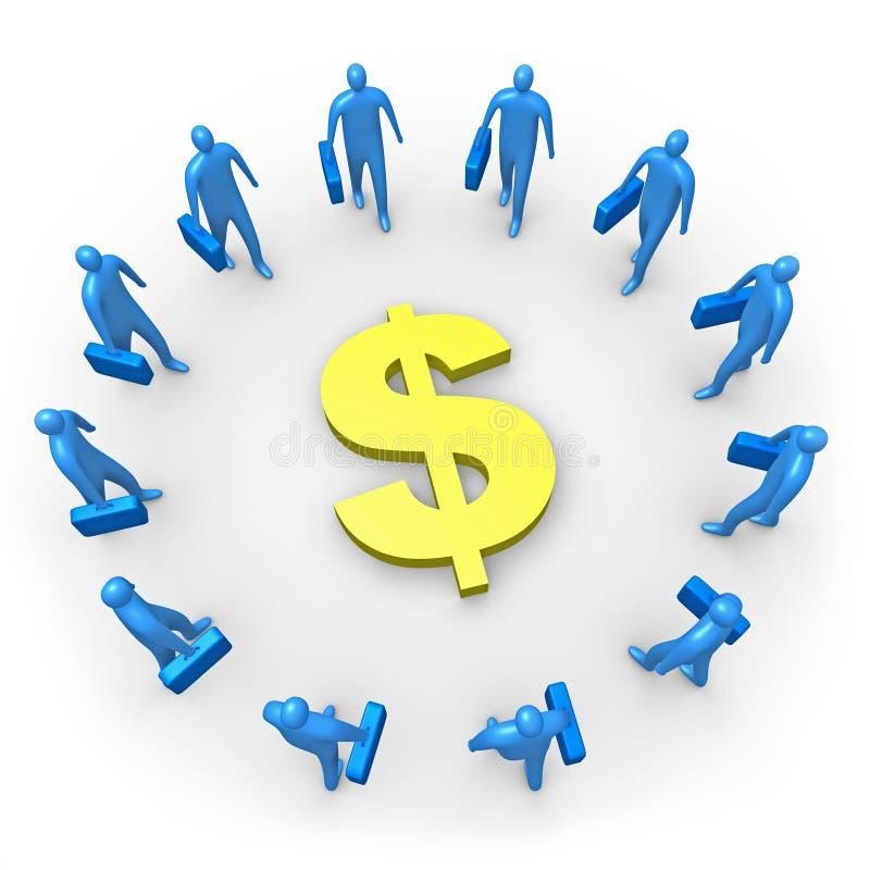 Unternehmenseinkommen - Dollar lizenzfreie abbildung