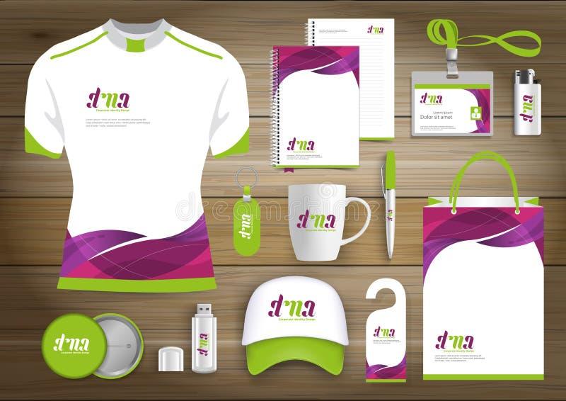Unternehmensidentitä5 des Geschenkartikelgeschäfts, Vector abstrakte Farbe, die fördernde Andenken mit Origamielementen für diago lizenzfreie abbildung