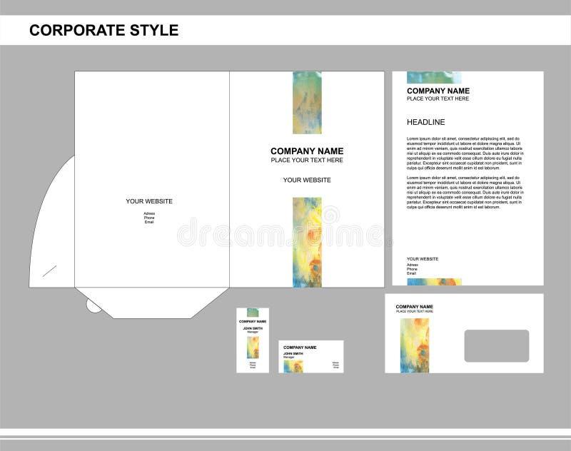 Unternehmensidentitä5, Geschäft, brennend, Werbung ein stock abbildung