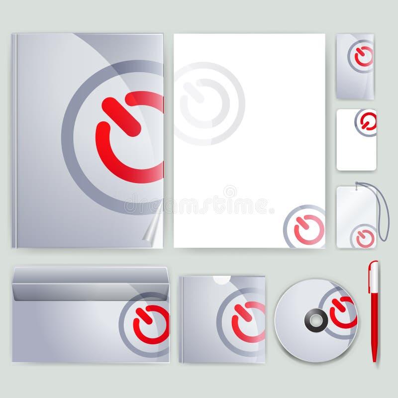 Unternehmensidentitä5sschablone mit Farbelementen Vector Firmengeschäftsart für brandbook, Bericht und Richtlinie Briefpapier tem stock abbildung
