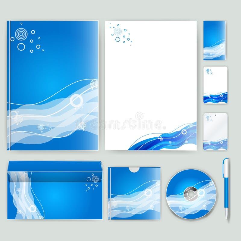 Unternehmensidentitä5sschablone mit Farbelementen Vector Firmengeschäftsart für brandbook, Bericht und Richtlinie Briefpapier tem lizenzfreie abbildung