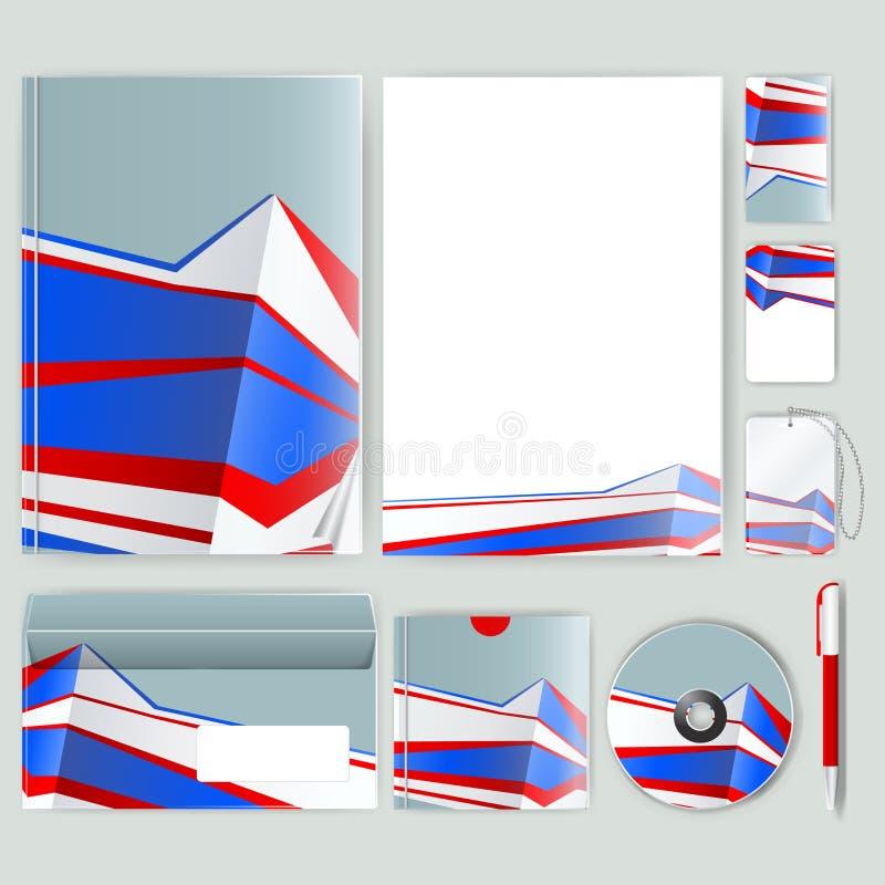 Unternehmensidentitä5sschablone mit Farbelementen Vector Firmengeschäftsart für brandbook, Bericht und Richtlinie Briefpapier tem vektor abbildung