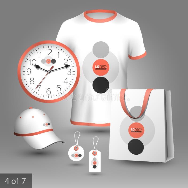 Unternehmensidentitä5sschablone und fördernde Geschenke vektor abbildung