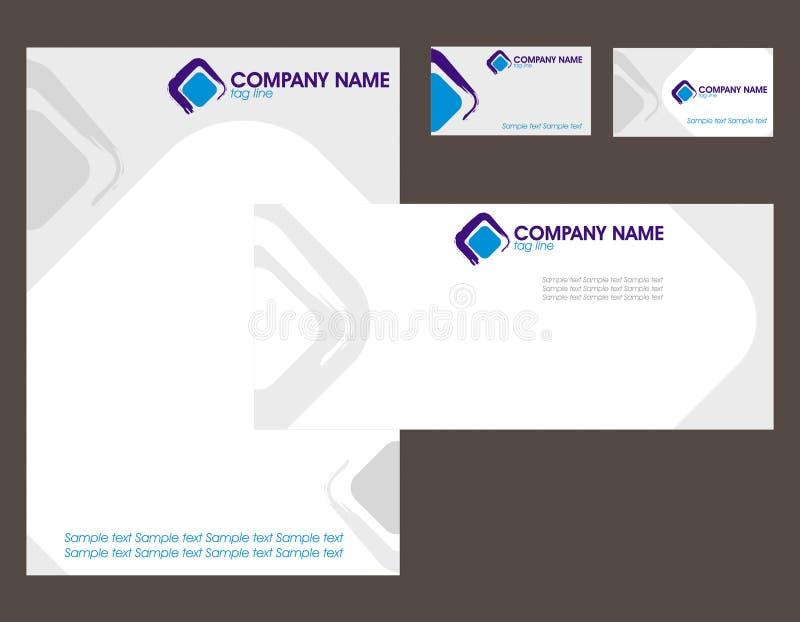 Unternehmensidentitä5 stock abbildung