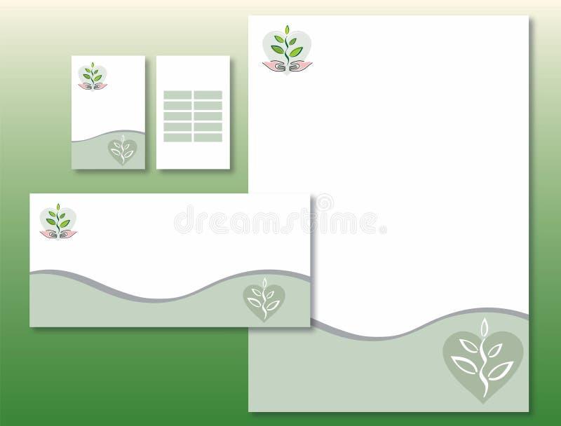 Unternehmensidentitä5 einstellte - Anlage/Hände/Inneres lizenzfreie abbildung