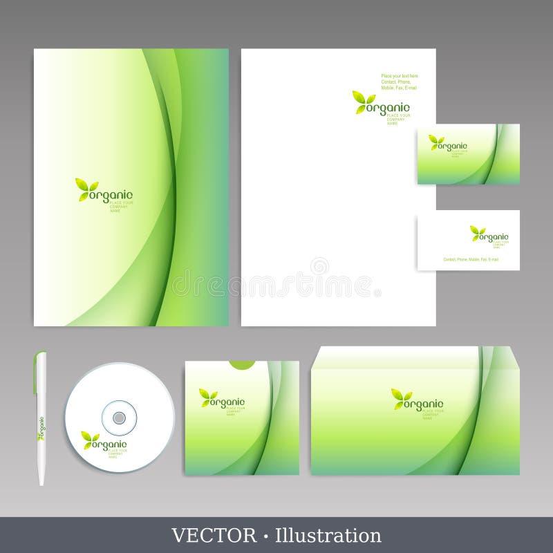 Unternehmensidentitä5sschablone. vektor abbildung