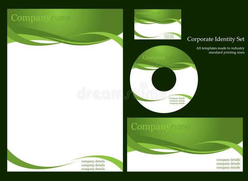 Unternehmensidentitä5sschablone. lizenzfreie abbildung