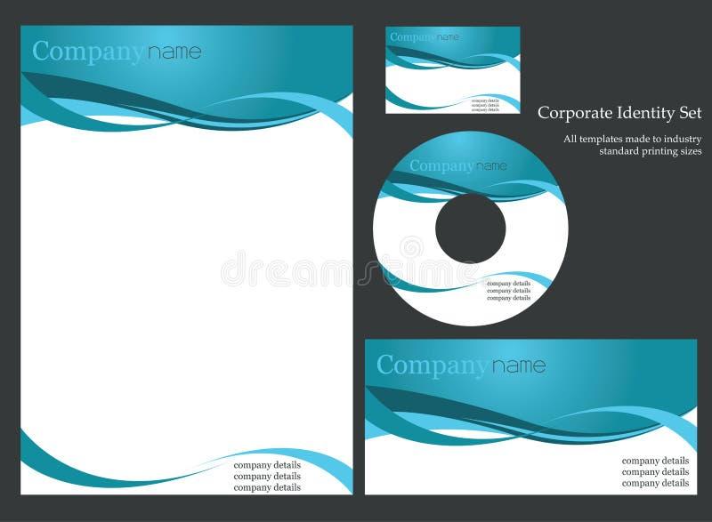 Unternehmensidentitä5sschablone vektor abbildung