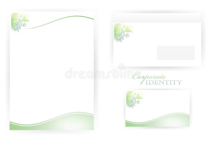 Unternehmensidentitä5sschablonen mit DNA lizenzfreie abbildung