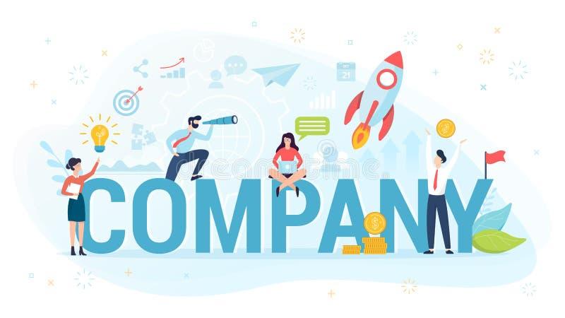 Unternehmenskonzept Idee von Leuten, die im B?ro zusammenarbeiten und Finanzgesch?ft und Forschung machen stock abbildung