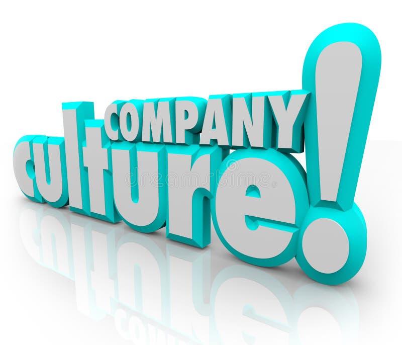 Unternehmenskultur 3d fasst Team Organization Working Together ab lizenzfreie abbildung