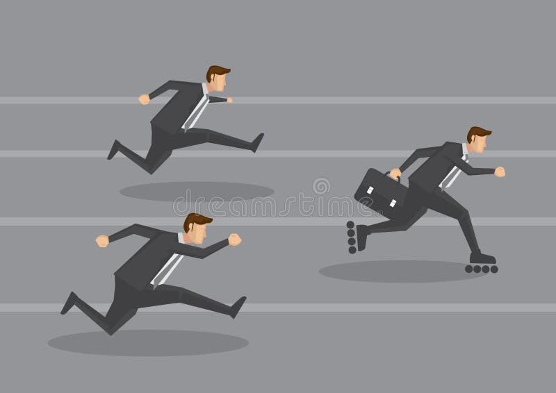 Unternehmensleiter auf Überholspur-Konzept-Vektor-Illustration vektor abbildung