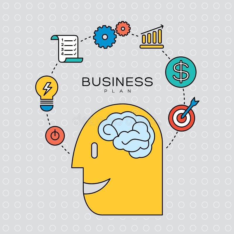 Unternehmensplan-Konzeptentwurfs-Ikonenillustration lizenzfreie abbildung