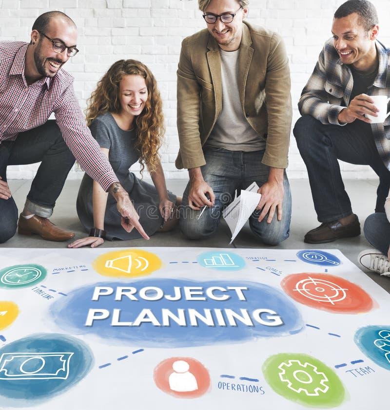 Unternehmensplan-Leistungs-Entwicklungs-Verfahrens-Konzept stockfoto