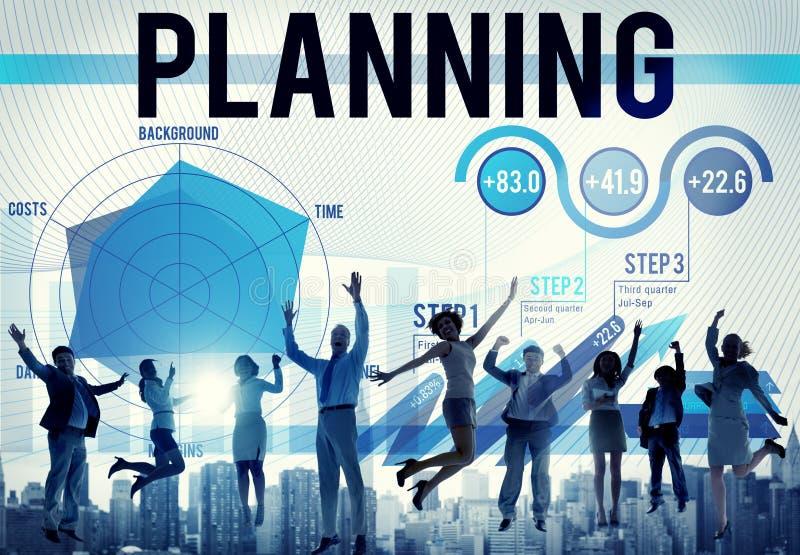 Unternehmensplanungs-Datenanalyse-Strategie-Konzept lizenzfreie abbildung