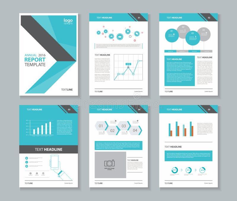Unternehmensprofil, Jahresbericht, Broschüre, Flieger, Planschablone, stock abbildung