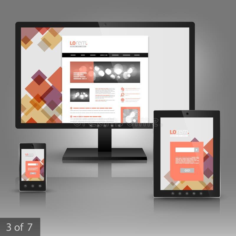 Unternehmensschablonendesign mit Anwendungen stockfotos