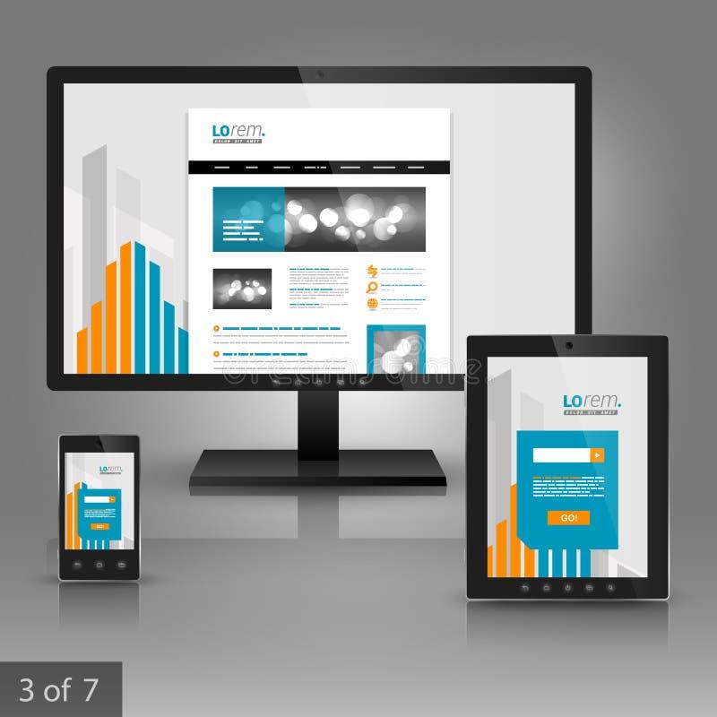 Unternehmensschablonendesign mit Anwendungen stockbilder