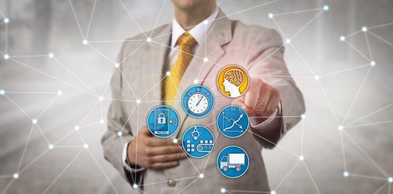 Unternehmensversorgungskette-Manager Activating AI stockfotos