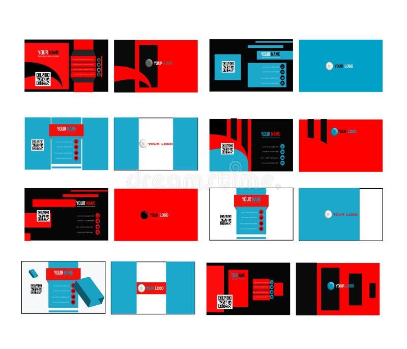 UNTERNEHMENSVisitenkarte-SATZ 02 stock abbildung
