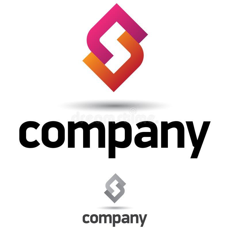 Unternehmenszeichen-Auslegung-Schablone stock abbildung